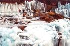 壮观的太行冰瀑