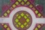 """青岛五四广场的""""中国结""""造型花坛(6月5日无人机拍摄)。新华社记者 朱峥 摄"""