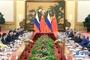 6月8日,国家主席习近平在北京人民大会堂同俄罗斯总统普京举行会谈。 新华社记者 姚大伟 摄